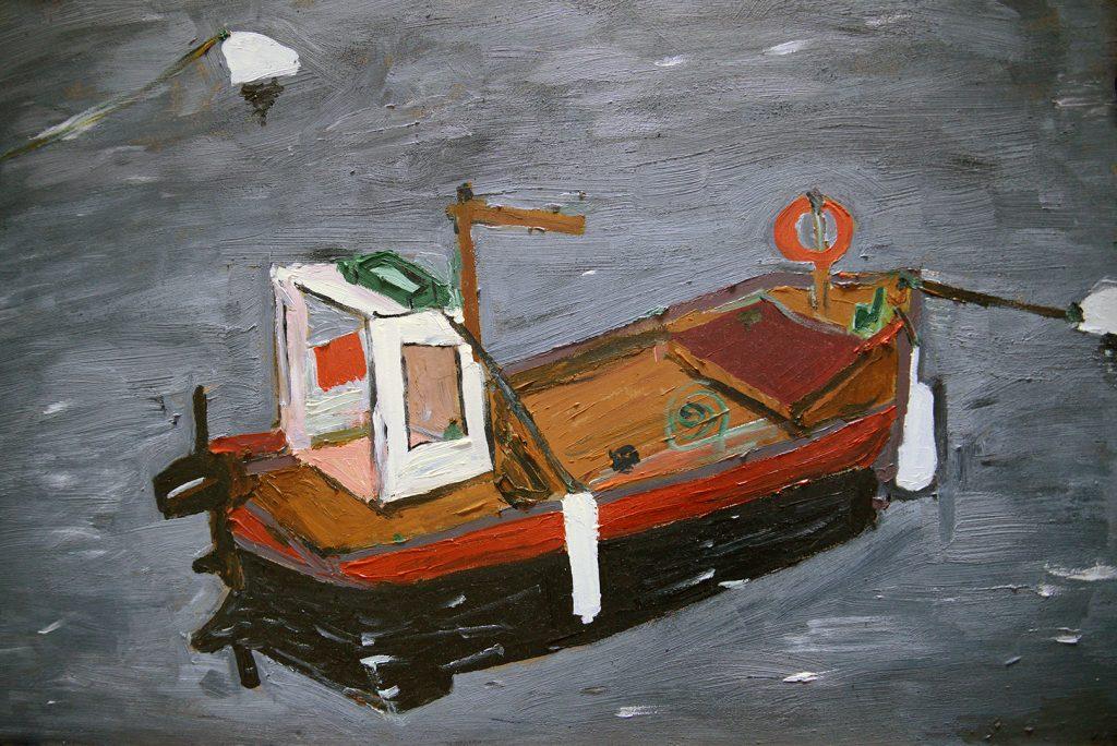 Barco solitario - 40x60cm