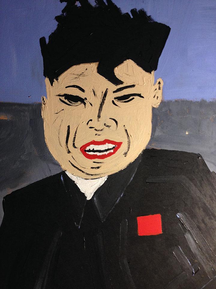 Kim Jong Un y el submarino - detalle