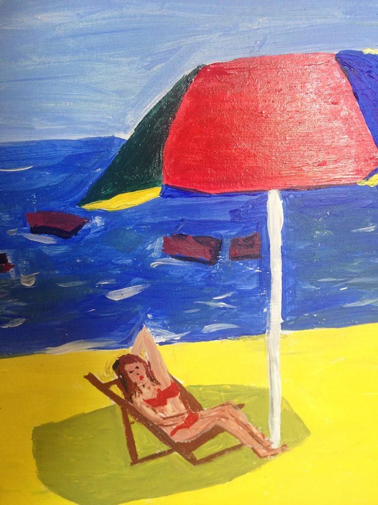 Tango Playa y sombrilla - detalle