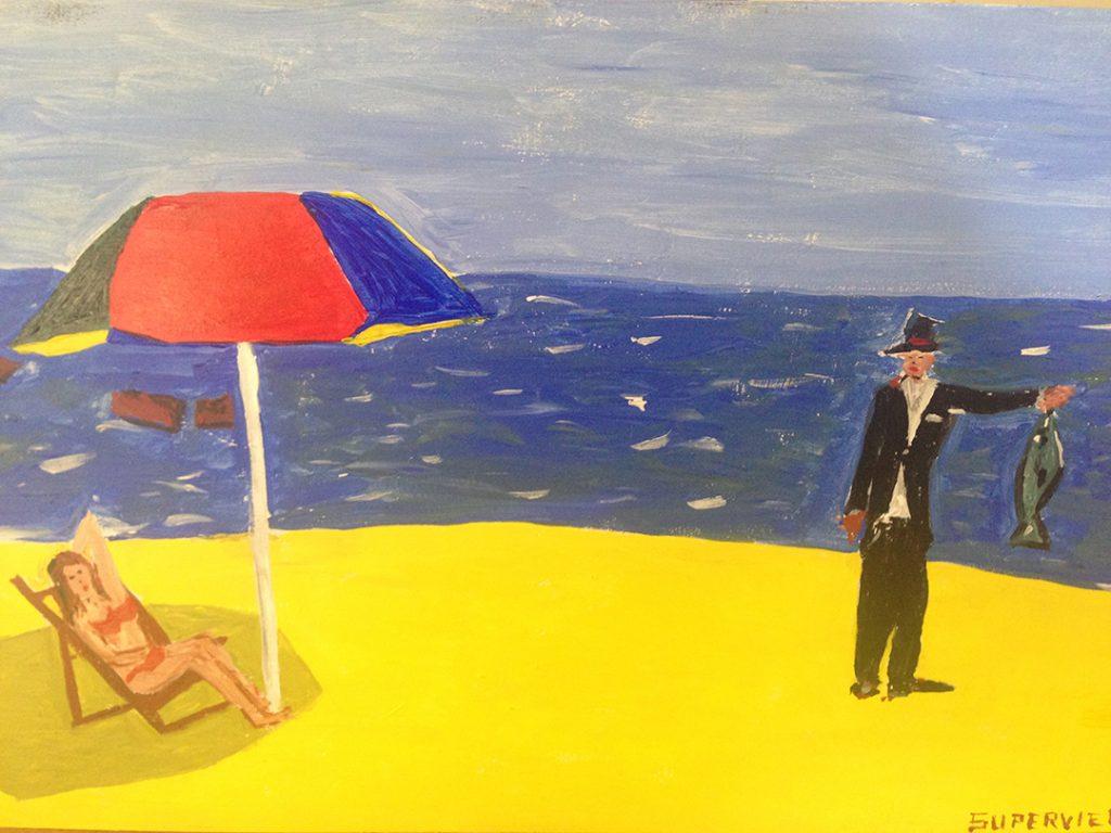 Tango Playa y sombrilla - 45x30cm