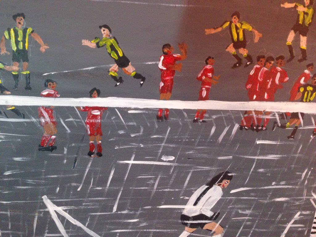 Gol de Peñarol 1987 - detalle