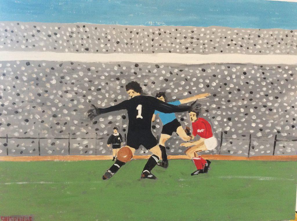 Gol de Pepe Sasia Chile 1962 55x35cm